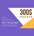 template design gift voucher collection vector image