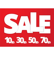 White sale sign vector image