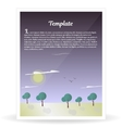 Design template banner nature and forest vector image