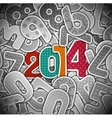 New 2014 year vector image vector image