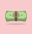 money bills with a tight belt vector image