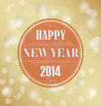 Retro New Years wish background vector image vector image