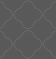 Monochrome pattern with gray wavy net vector image