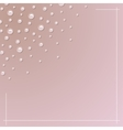 Pearl ornament pink background vector image