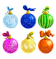 set of christmas balls vector image vector image