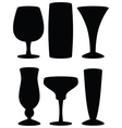 drink glass silhouettes vector image vector image