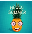 Cheerful pineapple in the sunglasses vector image