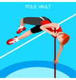 Athletics Pole Vault 2016 Summer Games 3D vector image
