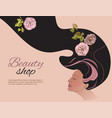 Beauty shop gir vector image