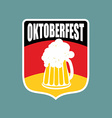 Coat of arms of Oktoberfest Flag of Germany and a vector image