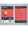 Flyer design for advertising vector image