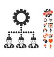 service staff icon with valentine bonus vector image