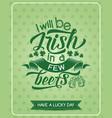 st patrick day green clover leaf greeting banner vector image