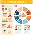 Back to school poster flat design tempalte vector image