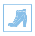 Ankle boot icon vector image