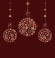 Christmas Balls Made of Snowflakes for Winter vector image