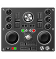 sound board or studio controls vector image
