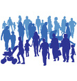 crowd vector image vector image
