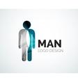 Abstract logo - man icon vector image