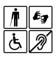 disabled signs vector image