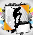 skateboarder summer frame vector image vector image