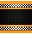 taxi cab pattern vector image vector image