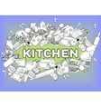 Kitchen coloring book vector image