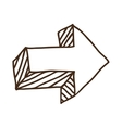 arrow with direction icon vector image