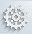 Boat steering wheel sail vector image