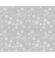 Christmas snowfall on the background of grey sky vector image