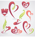 Collection of love concept labels and form vector image