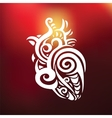 Decorative heart Ethnic pattern vector image