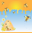 Honey Bee Party Invitation vector image