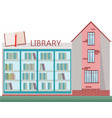 library front facade building flat style vector image