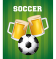 soccer and beer vector image