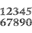 pattern numbers vector image vector image