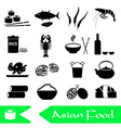 asian food theme set of simple icons eps10 vector image