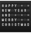Mechanical timetable happy New Year 2014 vector image