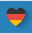 Heart-shaped icon with flag of Germany vector image