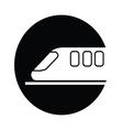 train symbol icon vector image