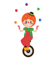 Clown character vector image