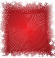 Christmas snowflake background vector image vector image