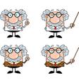 Cartoon professor vector image