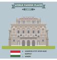 Opera Budapest vector image