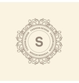 Monogram luxury logo template vector image
