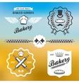 bakery bread vintage retro badges labels logo vector image