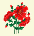 floral design element for page vector image