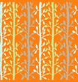 grunge tree leaves seamless pattern orange vector image