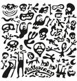 Halloween - doodles set vector image