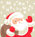 santa christmas card vector image